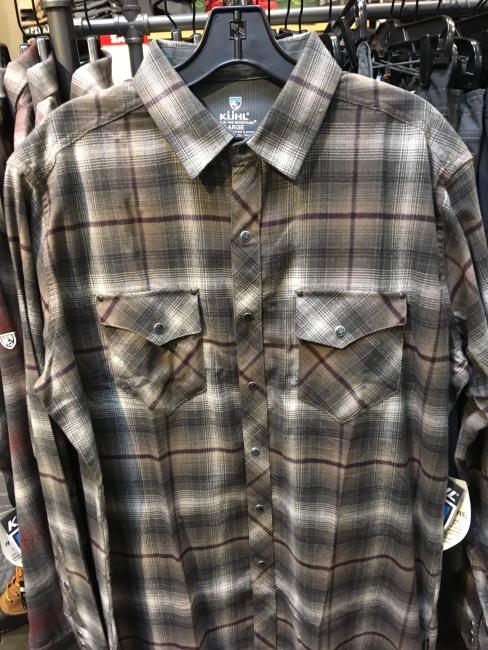 Kuhl long sleeve snap button shirt