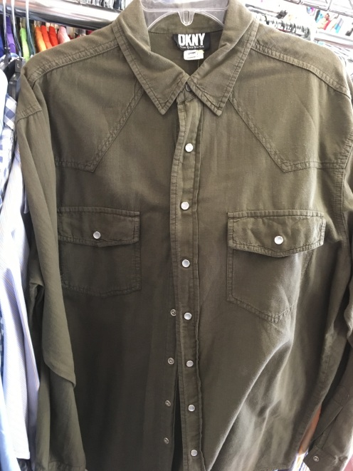DKNY western snap button shirt