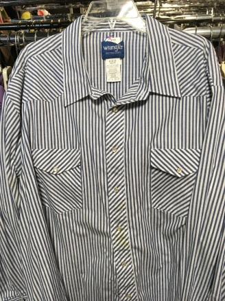 Wrangler western snap button shirt