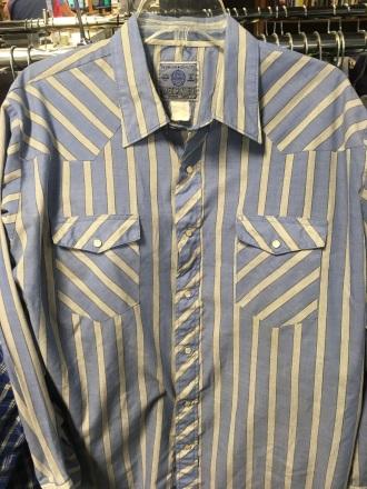 American Hero western snap button shirt