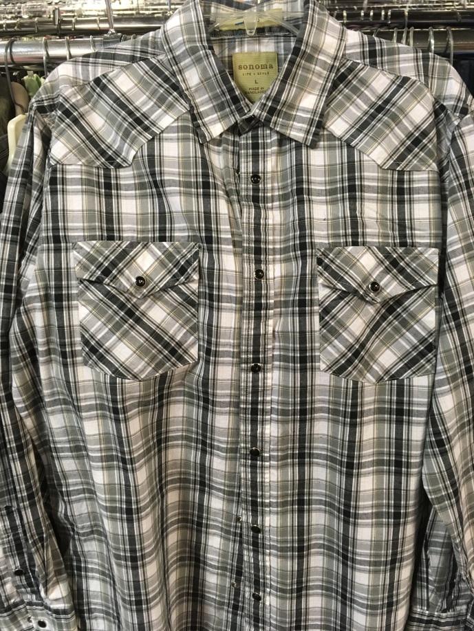 Sonoma western snap button shirt
