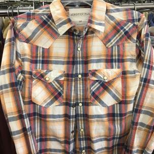 Aeropostale western snap button shirt