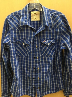 Hollister western snap button shirt