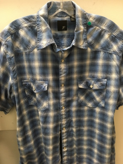 J.Ferrar western snap button shirt