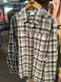 Columbia snap button shirt