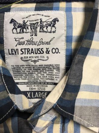 Levi Strauss tag - Cowboy Western Snap Button Shirt
