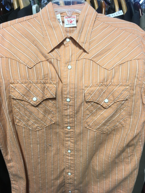 True Religion western snap button shirt
