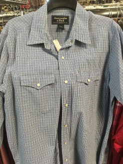 Abercrombie & Fitch western snap button shirt