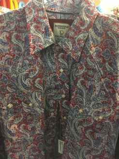 Some of the various western snap buttons shirts that are available at Rod's Western Palace.