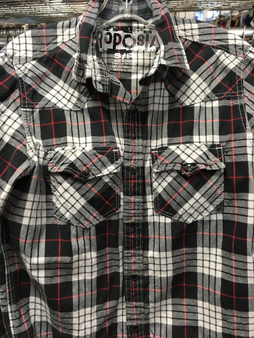 Aeropostale western snap button shirt