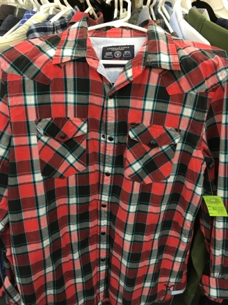 American Eagle western snap button shirt