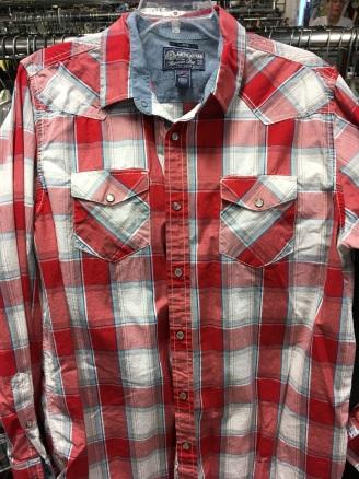 American Rag western snap button shirt