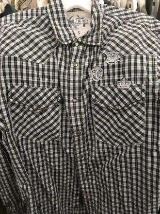 Guess western snap button shirt