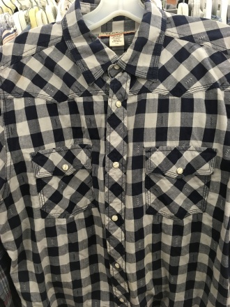 Vintage brand western snap button shirt