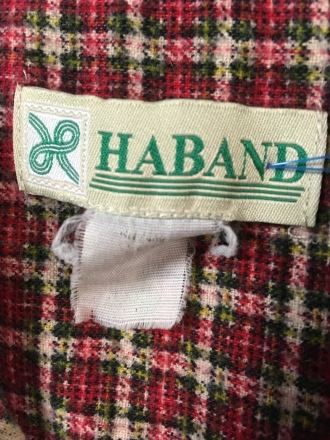 Haband snap button shirt tag
