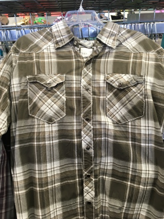 BKE western snap button shirt