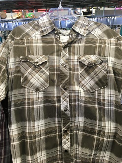 BKE western snap button shirt