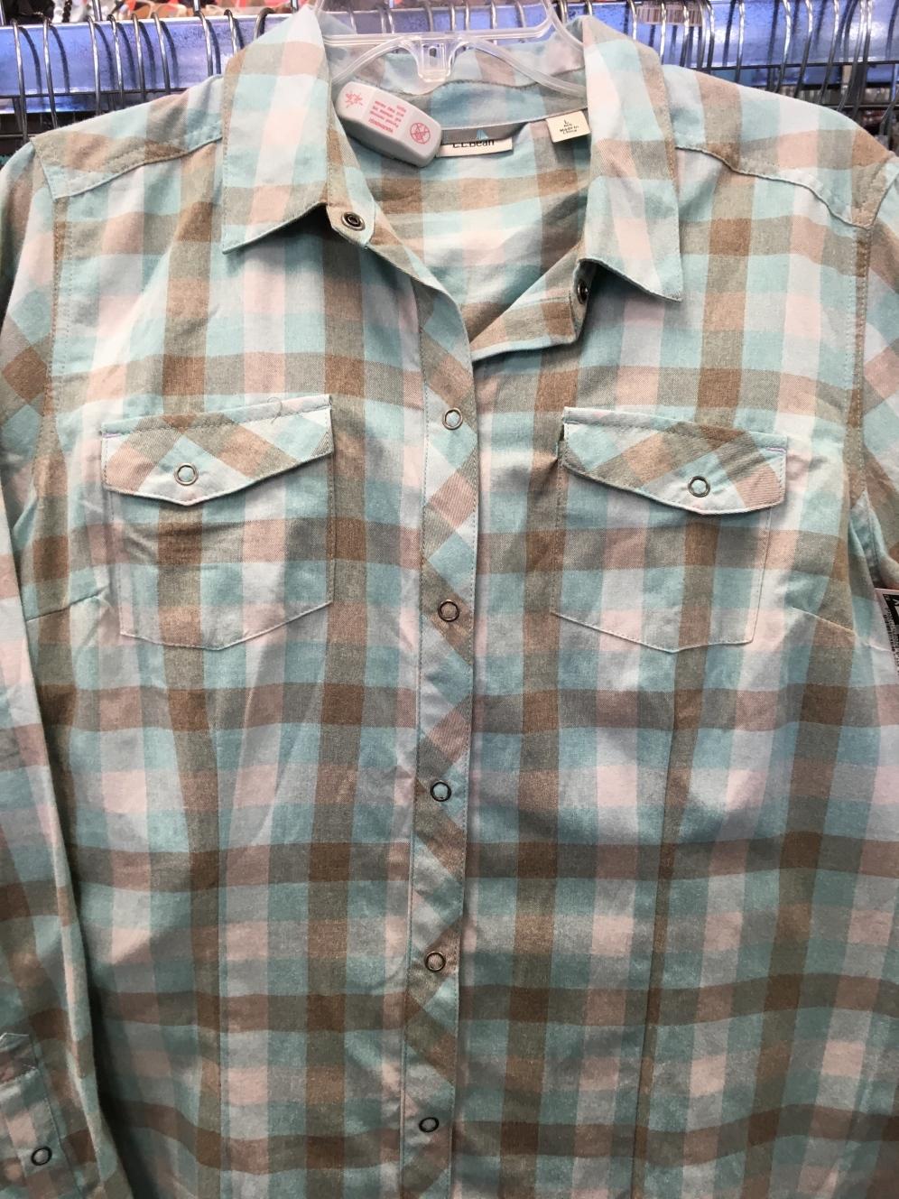 LL Bean snap button shirt found at a Plato's Closet.