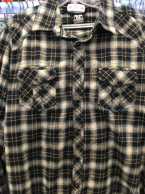 Route 66 snap button shirt