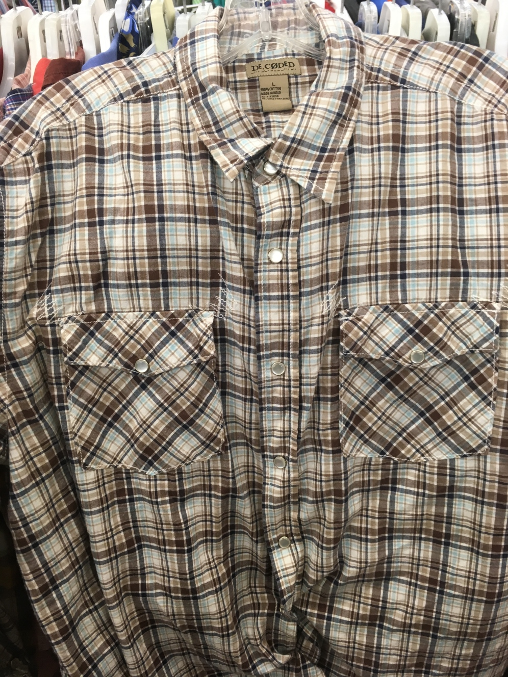 Decoded snap buttons shirt