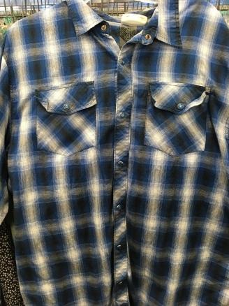 Ocean Current snap button shirt