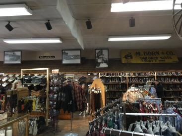 Inside the F.M. Light & Sons store.