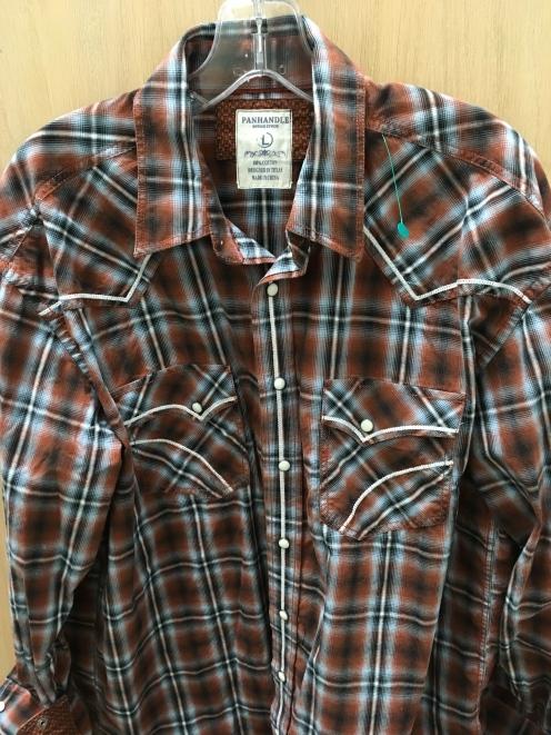 Large Panhandle western snap button shirt