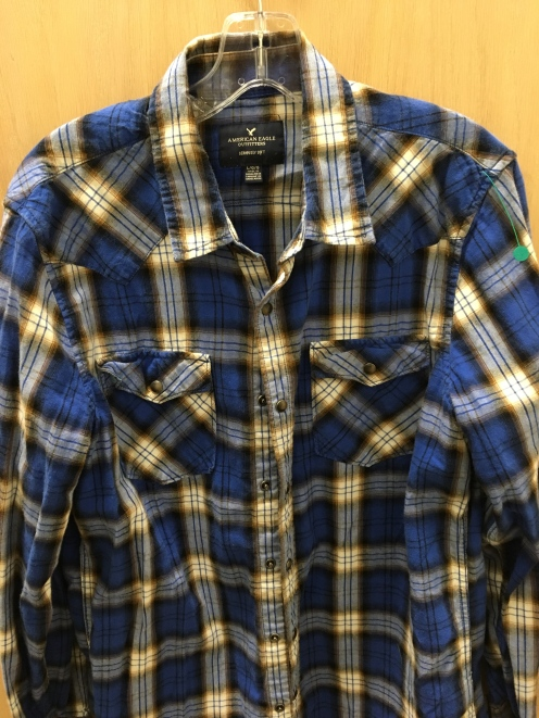 American Eagle Outfitter western snap button shirt.