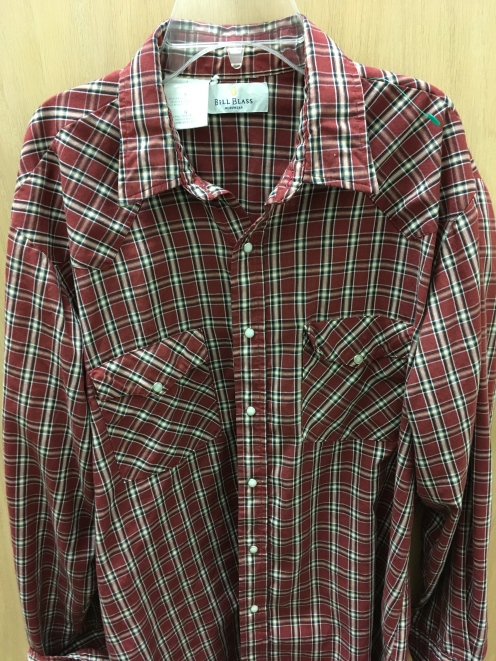 Bill Blass western snap button shirt