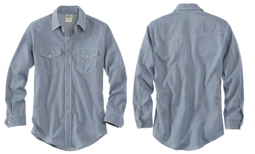 Wool Western Gabardine Shirt