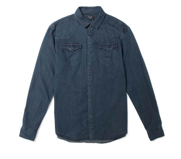 Snap Button Shirt Day DSTLD Down Denim