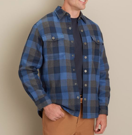 Snap Button Shirt of the Day: Duluth Trading Company - Flapjack Flannel Shirt Jac