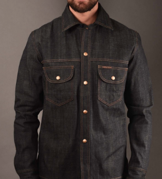 Snap Button Shirt of the Day: Rivet and Hide - Indigofera Fargo Shirt Winlock Selvedge