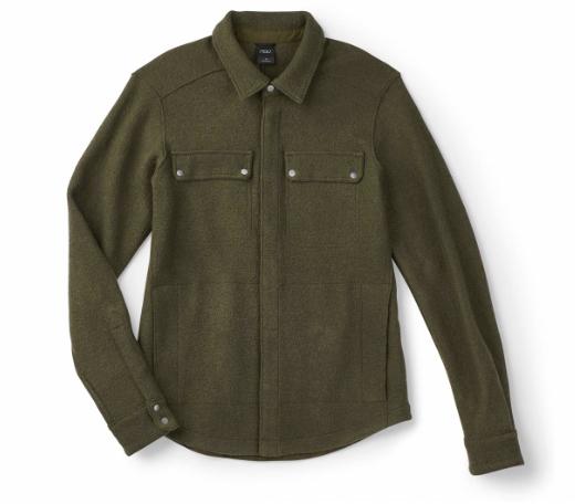 Nau Boiled Wool Shirt Jacket