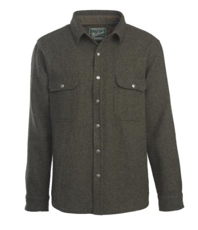 Wool Snap Button Shirt - Woolrich Alaskan Washable Wool Shirt