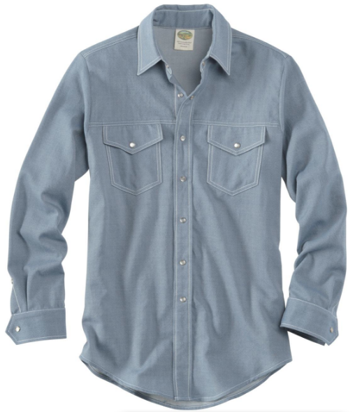 Snap Button Shirt of the Day: Ramblers Way - Wool Western Gabardine Shirt
