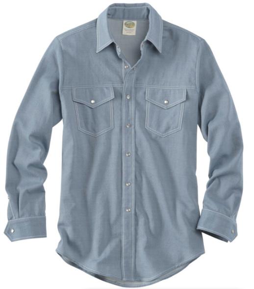 9912995138 Snap Button Shirt of the Day  Ramblers Way - Wool Western Gabardine Shirt