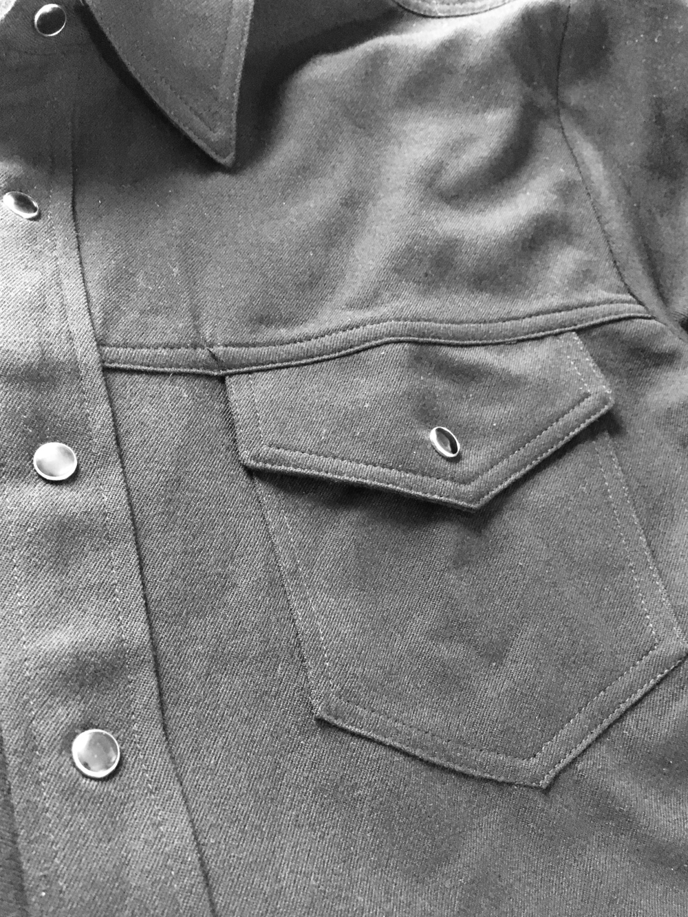 4348ab8859 Snap Button Shirt of the Day  Ramblers Way – Wool Western Gabardine ...