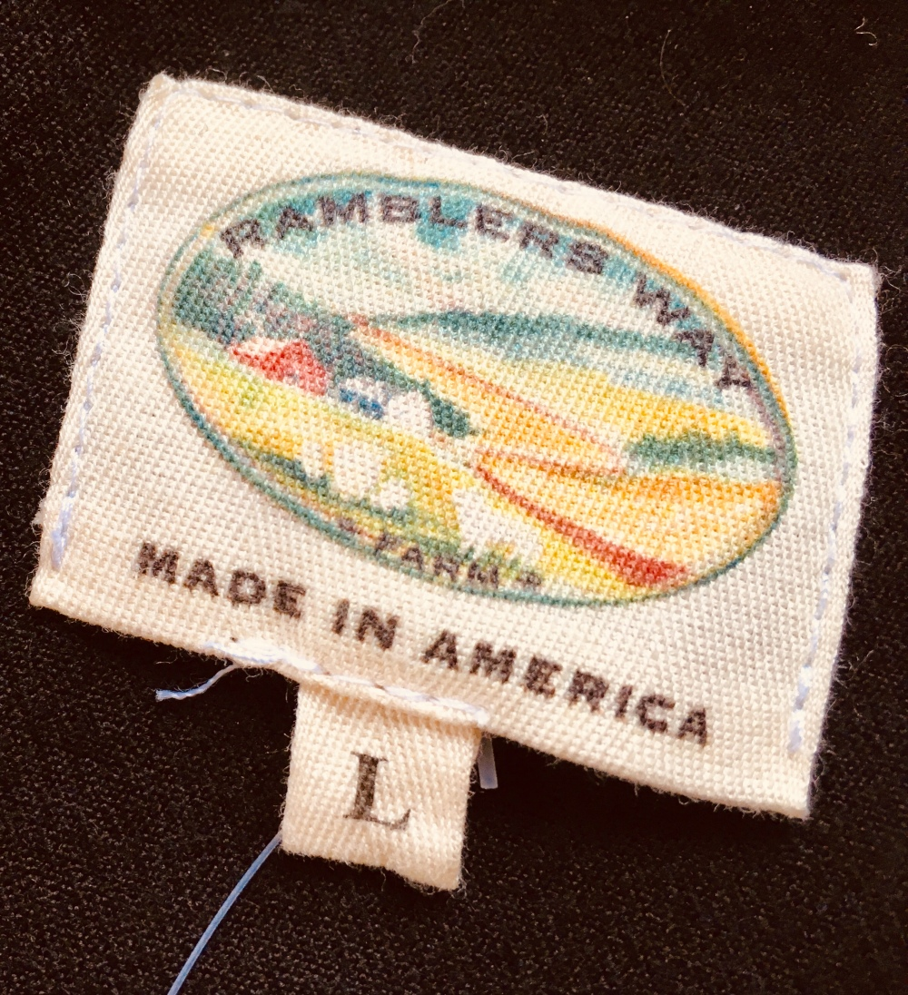 Ramblers Way shirt tag from Wool Western Gabardine Shirt
