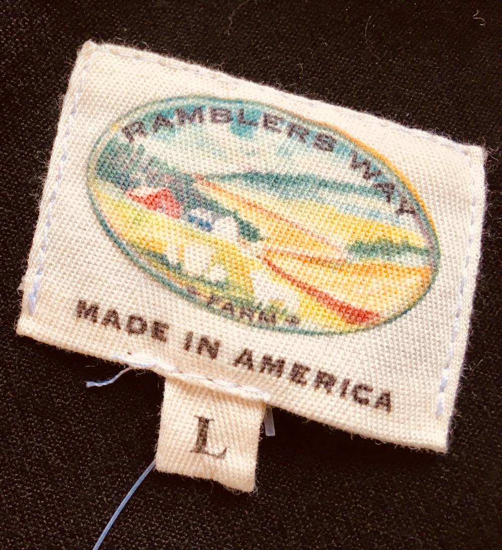 Ramblers Way shirt tag from Wool Western Gabardine Shirt