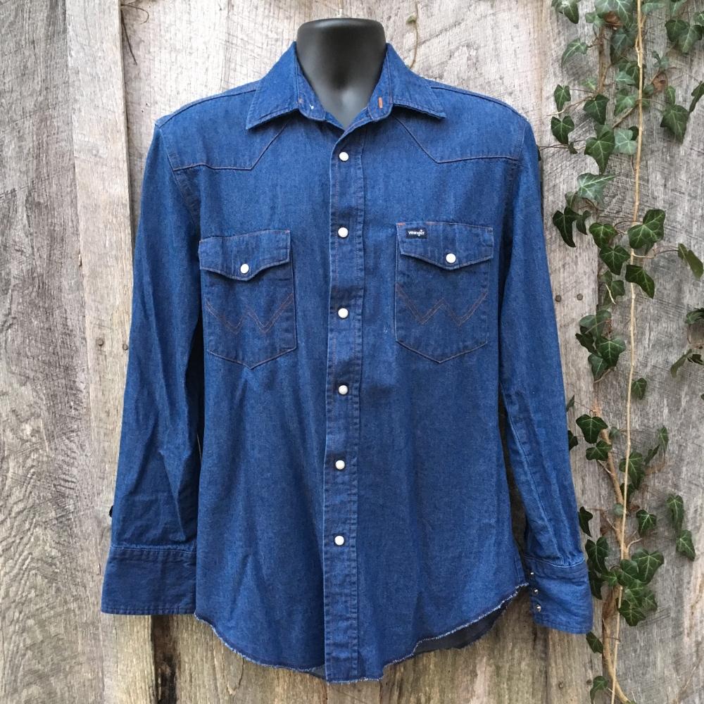 snap-button-western-shirt-wrangler-denim-medium