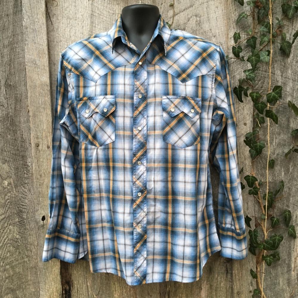 snap-button-western-shirt-wrangler-large-blue-plaid-sawtooth