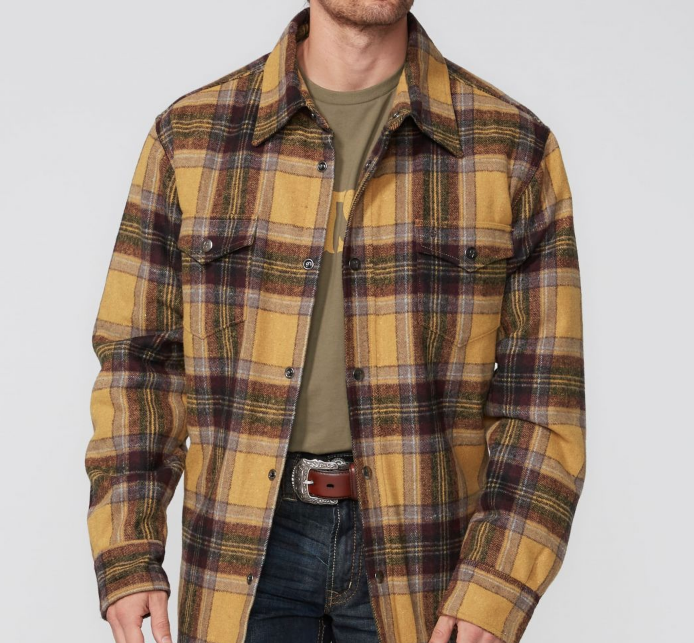 Stetson Wool Blend Quilted Shirt Jacket