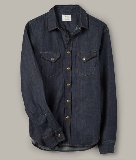 Snap Button Shirt of the Day: Billy Reid Shirt - Denim Shirt
