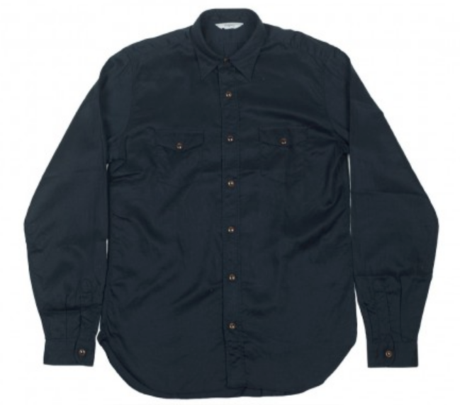 Snap Buttons Shirt of the Day: Fojito -Western snap shirt in navy blue tencel and hemp twill