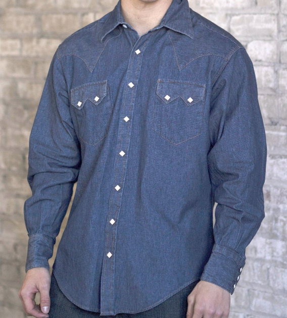Snap Button Shirt of the Day: Rockmount Ranch Wear - Classic Stonewash Denim Western Shirt