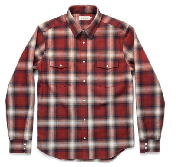 Snap Button Shirt of the Day: Taylor Stitch - Glacier Shirt in Red Plaid