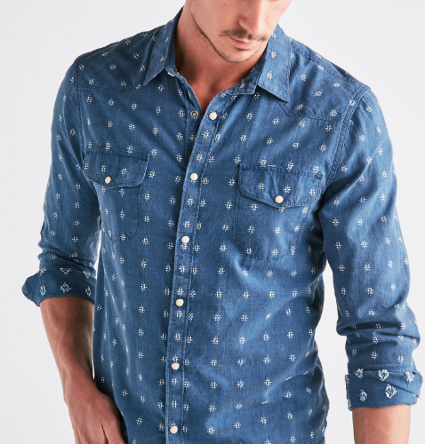 Snap Button Shirt of the Day: Lucky Brand - Indigo Dobby Western Shirt