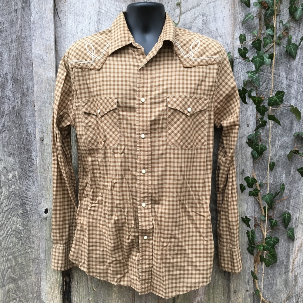 snap-button-western-shirt-express-brown-check