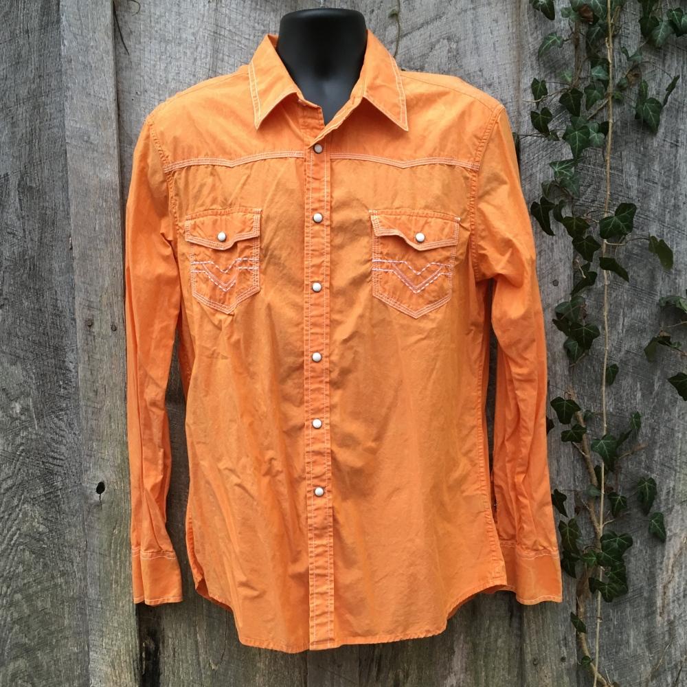 snap-button-western-shirt-rock-roll-cowboy-orange